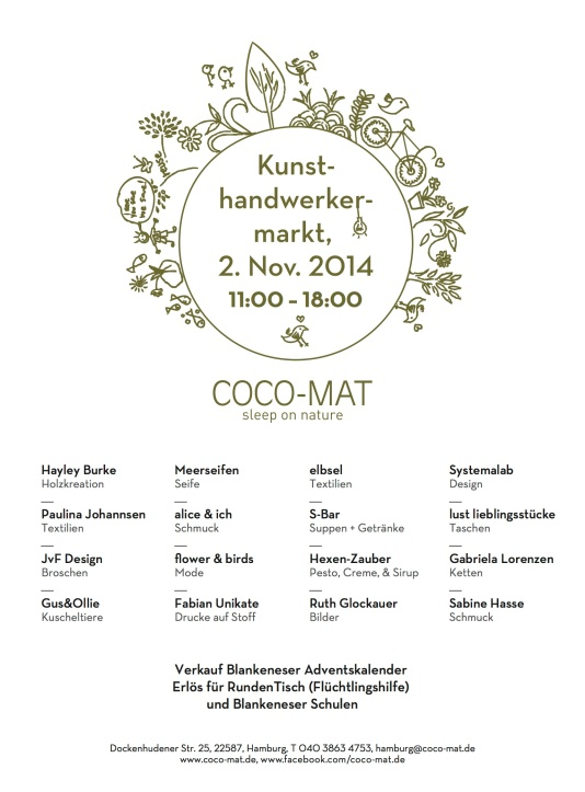 Coco-Mat Kunsthandwerkermarkt 2014