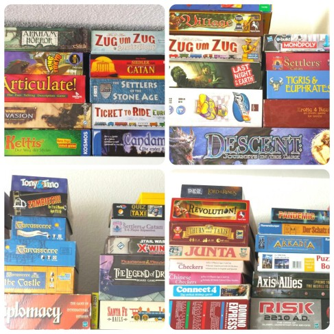 Just a few of the games in our collection.