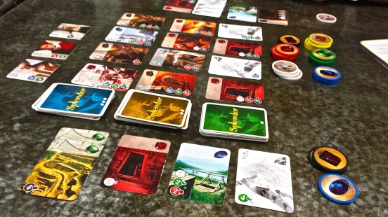 Splendor - our latest board game of choice.