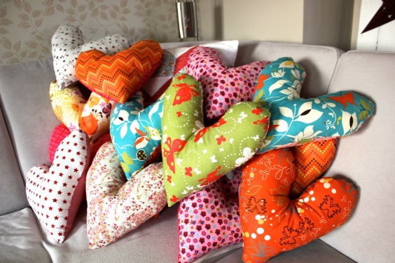 Heart pillow project, handmade, hamburg, germany, breast cancer, patients, cushion, donate, donations, charity,