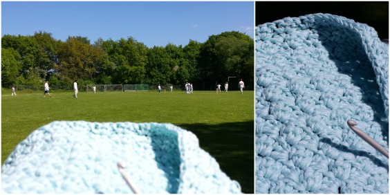Crochet at the cricket by Gus and Ollie