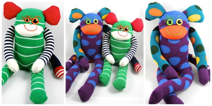 Sock Monkeys from Gus and Ollie