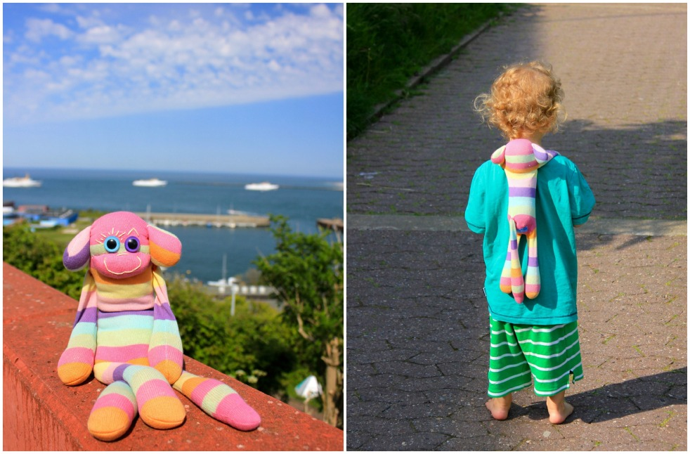 Bunte Kuh Collage, Helgoland, Hamburg, Germany, Heligoland Pilgrims, Cricket, Gus and Ollie, Clive, Sock Monkey